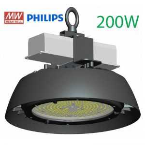 LED High bay ufo zwart 200W